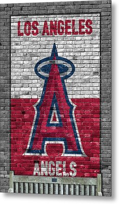 Los Angeles Angels Brick Wall Metal Print