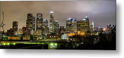Metal Print featuring the photograph Los Angeles At Night by April Reppucci