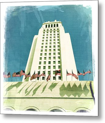 Los Angeles City Hall Metal Print by Nina Prommer