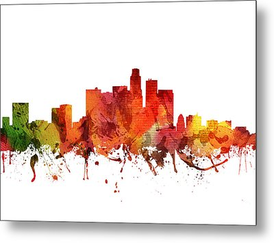 Los Angeles Cityscape 04 Metal Print by Aged Pixel