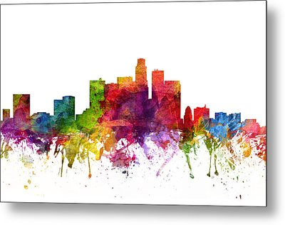 Los Angeles Cityscape 06 Metal Print by Aged Pixel