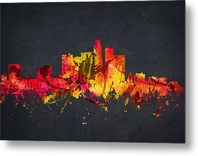 Los Angeles Cityscape 07 Metal Print by Aged Pixel