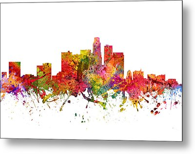 Los Angeles Cityscape 08 Metal Print by Aged Pixel