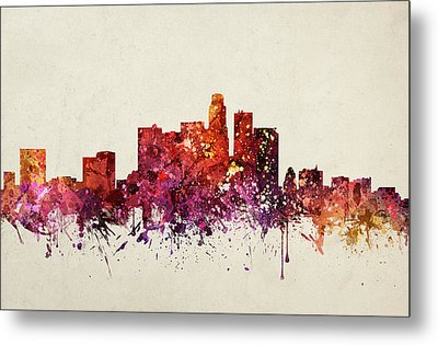 Los Angeles Cityscape 09 Metal Print by Aged Pixel