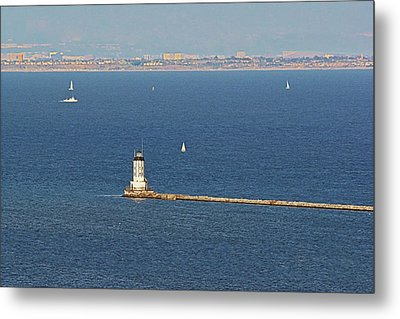 Los Angeles Harbor Light - Angel's Gate - California Metal Print by Christine Till