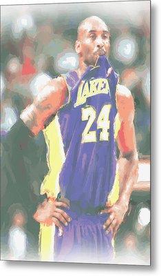 Los Angeles Lakers Kobe Bryant 3 Metal Print