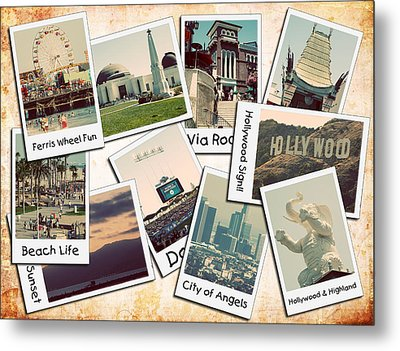 Los Angeles Polaroid Collage Metal Print by Ricky Barnard