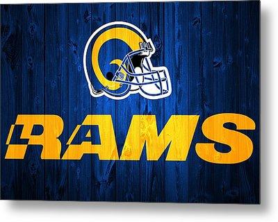 Los Angeles Rams Barn Door Metal Print by Dan Sproul