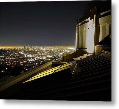 Los Angeles Skyline From The Griffith Observatory Metal Print