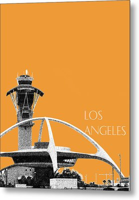 Los Angeles Skyline Lax Spider - Orange Metal Print by DB Artist