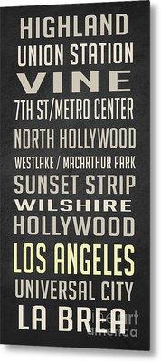 Los Angeles Vintage Places Poster Metal Print