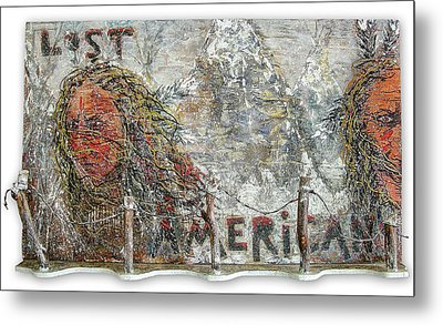 Lost Americans At Wounded Knee Metal Print by Tony A Blue