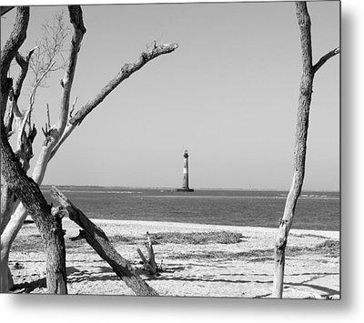 Lost At Sea...morris Island Lighthouse Metal Print by Elena Tudor