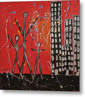 Lost Cities 13-001 Metal Print by Mario Perron