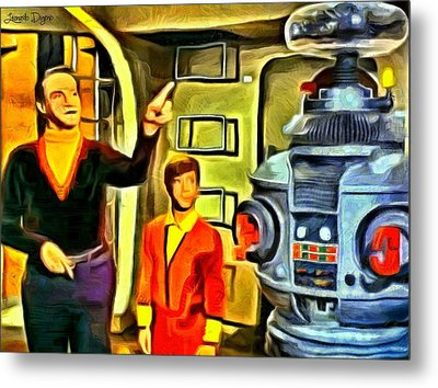 Lost In Space - Da Metal Print