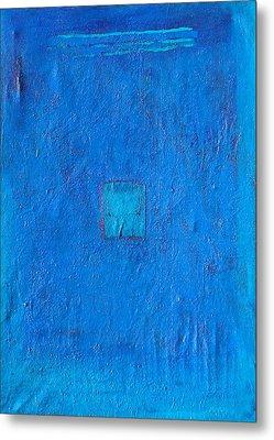 Lost In The Blue Metal Print by Habib Ayat