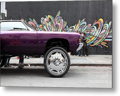 Lost In Urban America - Boys In The Hood And The Ride -tenderloin District -san Francisco -5d19356 Metal Print by Wingsdomain Art and Photography