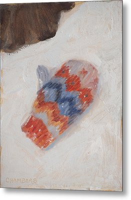 Lost Mitten One Metal Print by Timothy Chambers