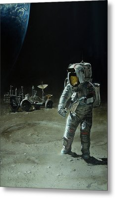 Lost Moon Metal Print by Simon Kregar