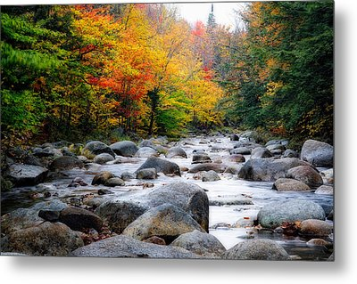 Lost River Gorge At Fall  New Hampshire Metal Print by George Oze