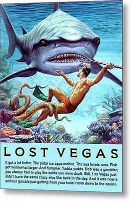 Lost Vegas Metal Print by Dominic Piperata