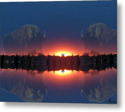 Lost World Reflections Metal Print by Andrea Lawrence