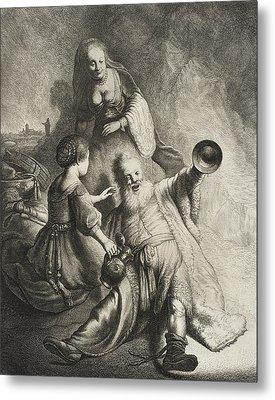 Lot And His Daughters Metal Print by Jan Georg van Vliet