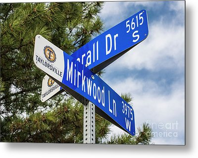 Lotr Mirkwood Street Signs Metal Print by Gary Whitton