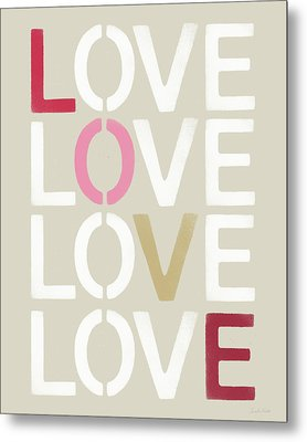 Metal Print featuring the mixed media Lots Of Love- Art By Linda Woods by Linda Woods