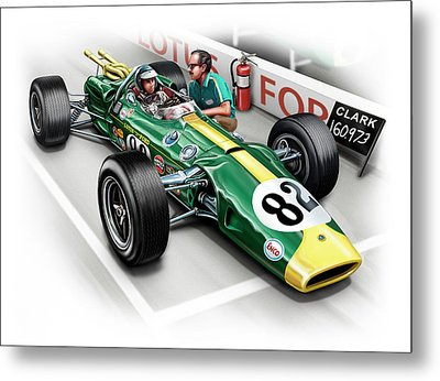 Lotus 38 Indy 500 Winner 1965 Metal Print by David Kyte