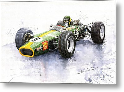 Lotus 49 Ford F1 Jim Clark Metal Print by Yuriy  Shevchuk