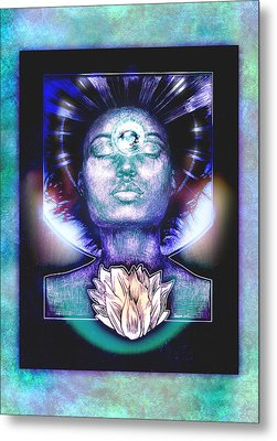 Metal Print featuring the painting Lotus Bloom by Ragen Mendenhall