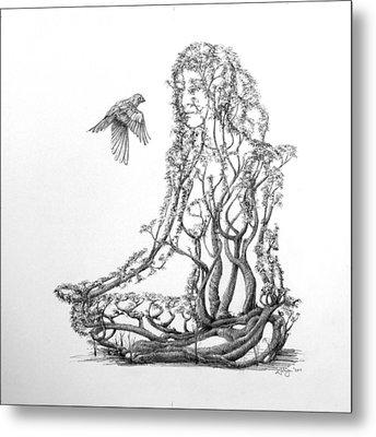 Lotus Dancer Metal Print by Mark Johnson
