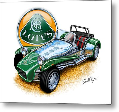 Lotus Super 7  Metal Print by David Kyte