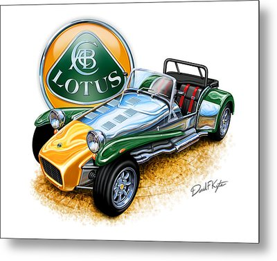 Lotus Super Seven Sports Car Metal Print by David Kyte