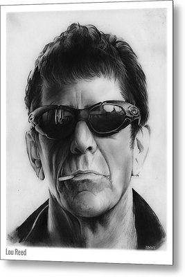 Lou Reed Metal Print by Greg Joens
