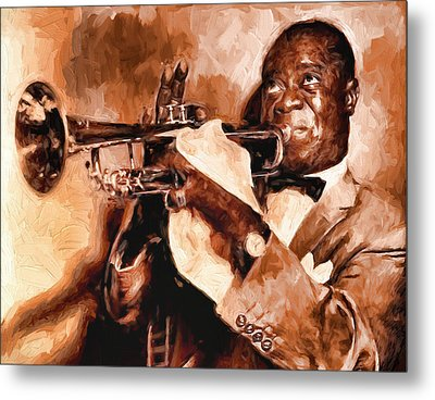 Louis Armstrong Metal Print by Louis Ferreira