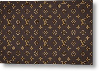 Louis Vuitton Texture Metal Print