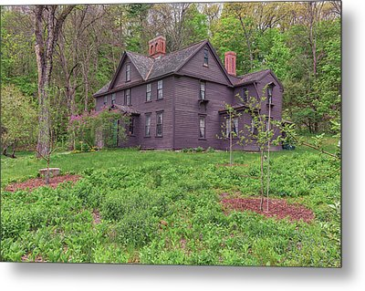 Louisa May Alcotts Orchard House Concord Massachusetts Metal Print