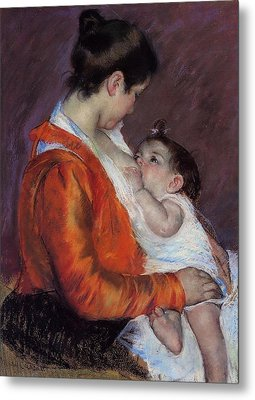 Louise Nursing Her Child Metal Print by Marry Cassatt