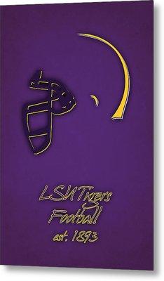 Louisiana State Tigers Helmet Metal Print