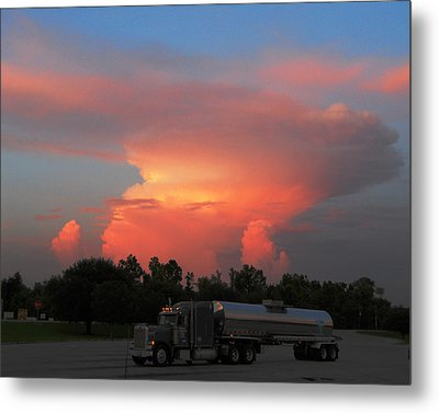 Metal Print featuring the photograph Louisiana Sunset by Maggy Marsh