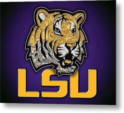 Louisiana State University Tigers Football Metal Print by Fairchild Art Studio