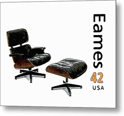 Lounge Chair And Ottoman Metal Print by Lanjee Chee