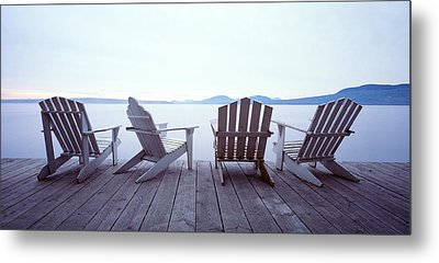Lounge Chairs Moosehead Lake Me Metal Print