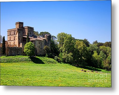 Lourmarin Castle Metal Print by Olivier Le Queinec
