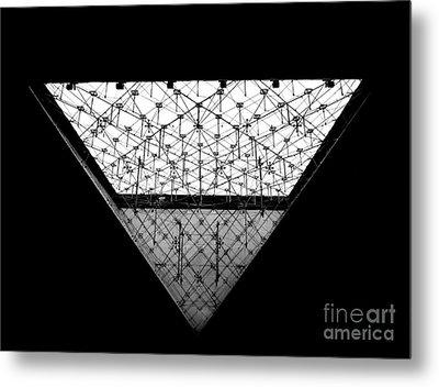 Lourve Pyramid Metal Print by Amar Sheow
