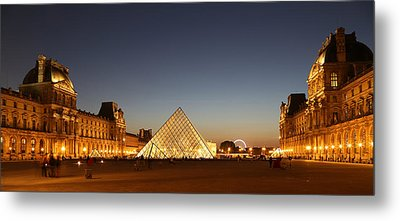 Metal Print featuring the photograph Louvre At Night 2 by Andrew Fare