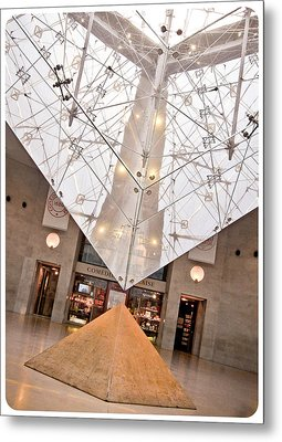 Metal Print featuring the photograph Louvre Pyramid by Silvia Bruno
