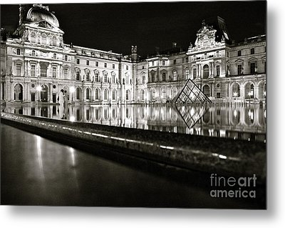 Metal Print featuring the photograph Louvre Reflections by Danica Radman